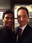 Sendhil and Brennan Brown on Set