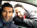 Sendhil and Steven Adelson on Set